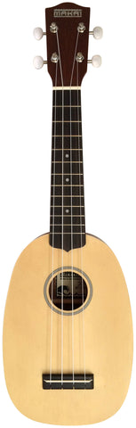 Makai Solid Top Series With White Binding Pineapple Soprano Ukulele MP-70