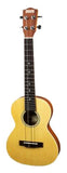 Makai Solid Top Series With White Binding Travel Tenor Ukulele MT-70TR