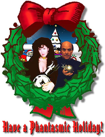 Gigi and Reggie Phantasmic Holiday Wreath! (graphic  by Rob Long)