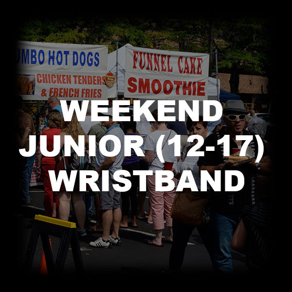14 - WEEKEND JUNIOR (12-17) WRISTBAND
