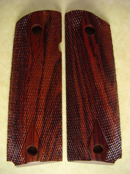 Full Size, Double Diamond Checkered, Exotic 1911 Grips