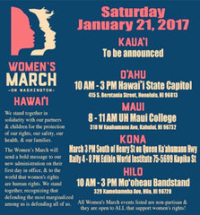 Women's March Hawaii for women's rights and reproductive freedom