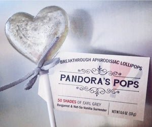 50 Shades of Earl Grey Aphrodisiac Lollipops
