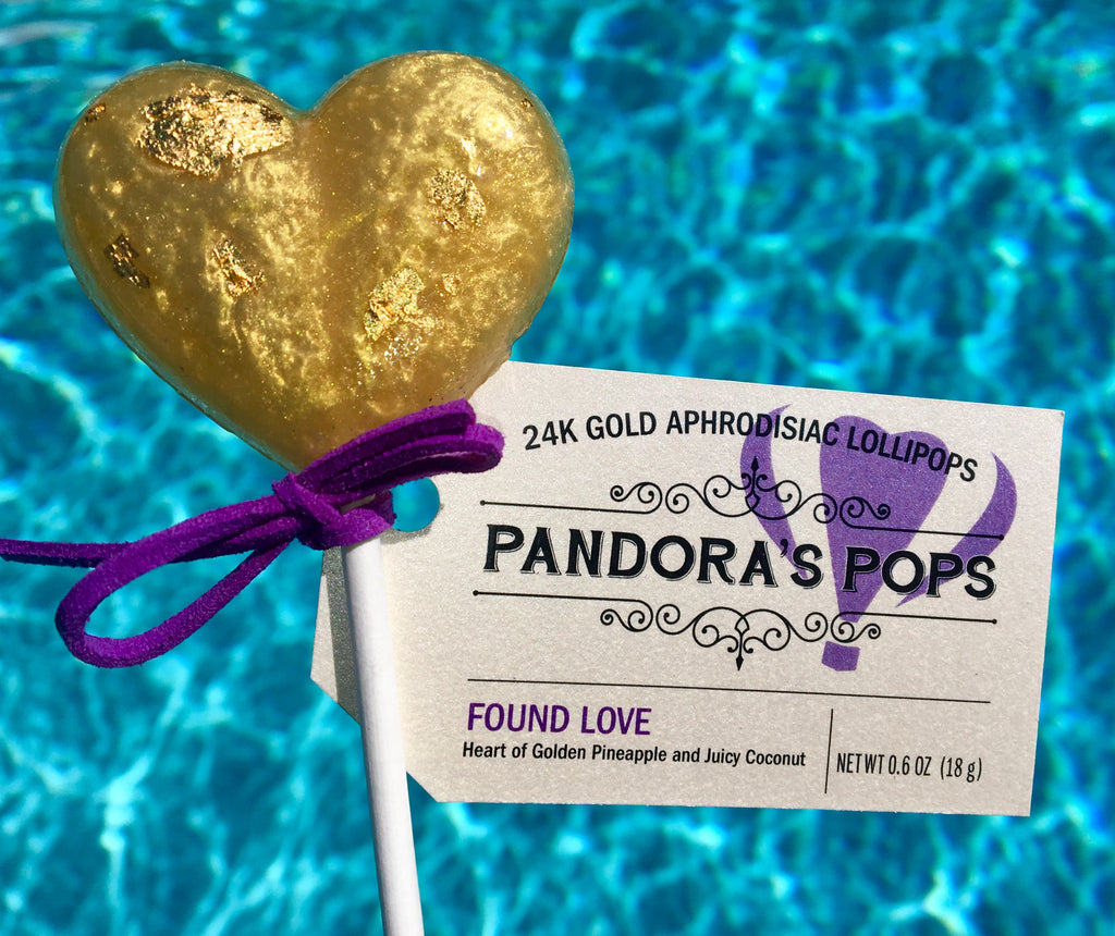 24K Gold Found Love Lollipops
