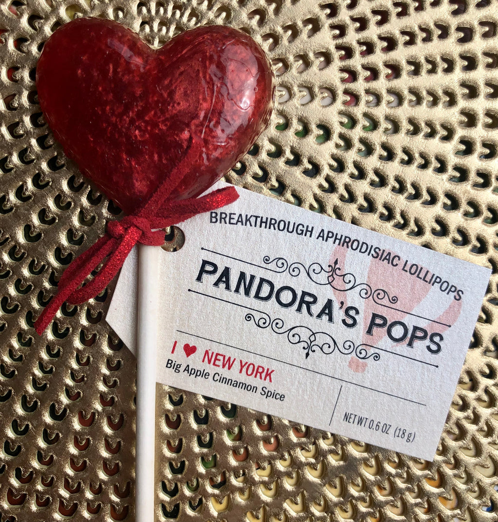 I Love New York Aphrodisiac Lollipops