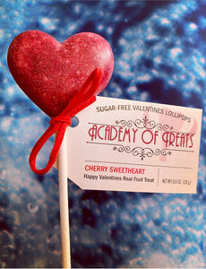 "Sugar Free Valentines ""Cherry Sweetheart"" Lollipop"