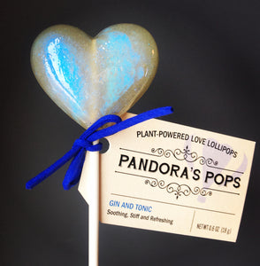 Gin and Tonic Aphrodisiac Lollipops