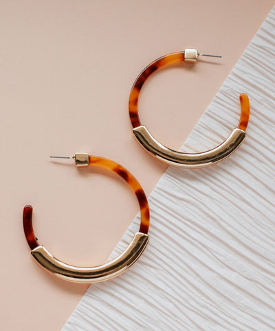 Peoria Resin Hoop Earrings