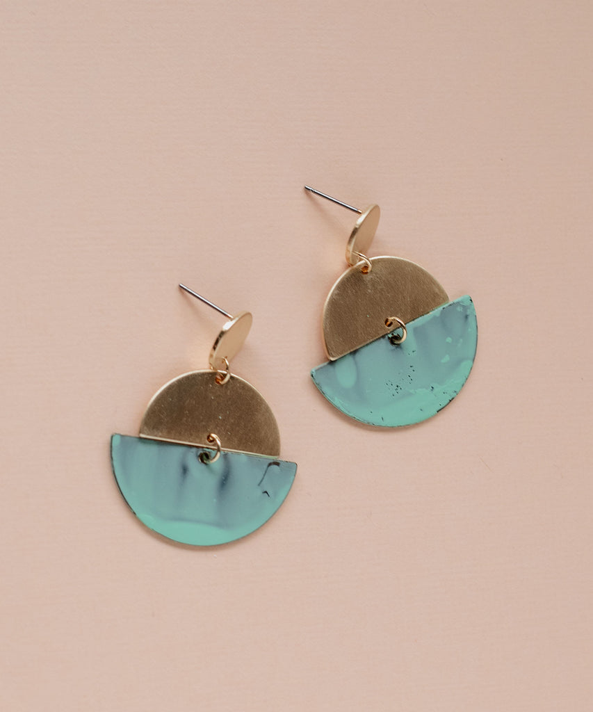 Raleigh Crescent Drop Earrings