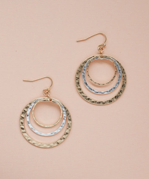 Kent Drop Hoop Earrings