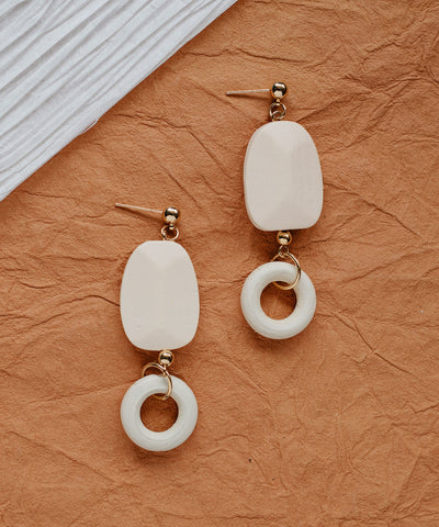 Tulsa Wood Drop Earrings