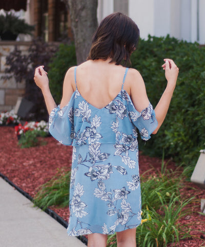 Lennon Floral Cold Shoulder Dress