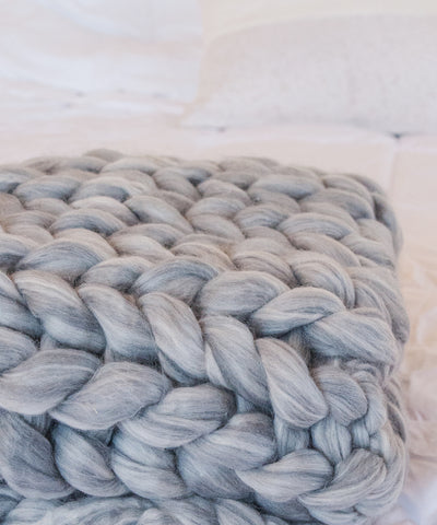 Chunky Knit Blanket - Wool