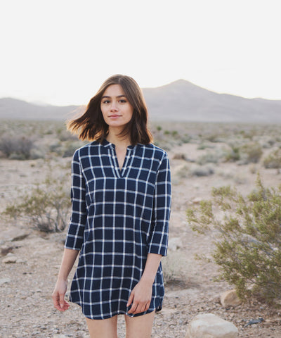 Frey Checkered Dress