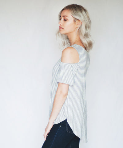 Rowan Cold Shoulder Top