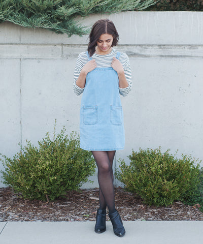 Magnolia Denim Pinafore Dress