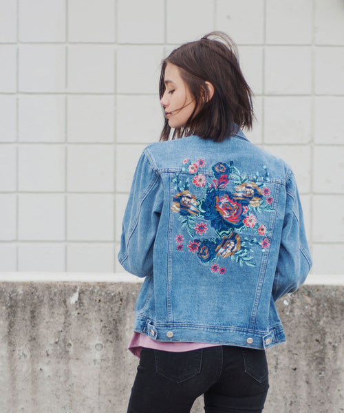 Ophelia Embroidered Denim Jacket