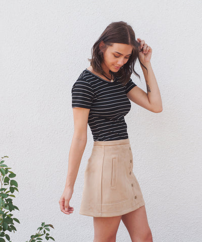 Dakota Suede Skirt