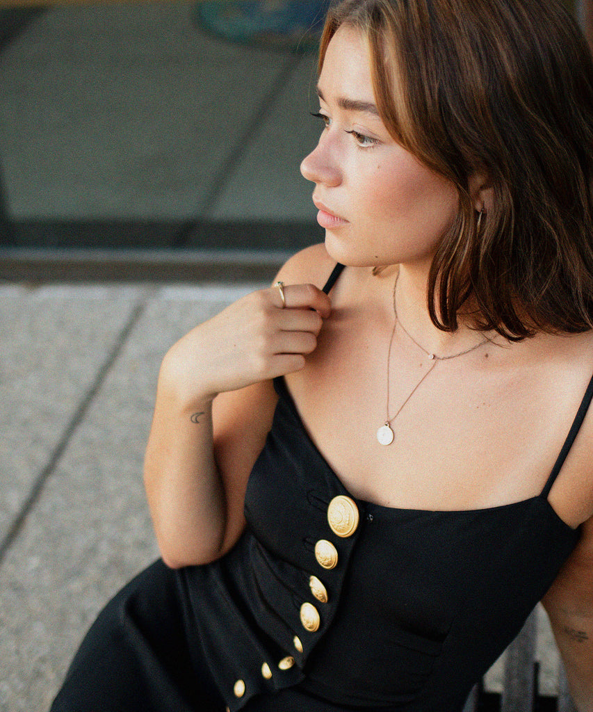 Vintage Button Down Slip Dress