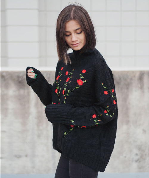 Florentine Embroidered Sweater