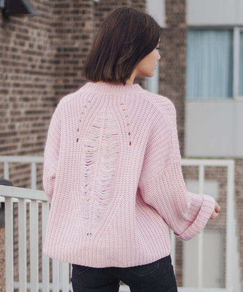 Marcella Distressed Knit Sweater