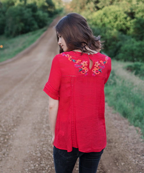 Aya Embroidered Top