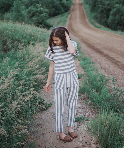 Rosemary Striped Jumpsuit