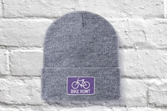 Purple Beanie - fat biking, mountain biking, chilling out, perfect hat for all times of the year