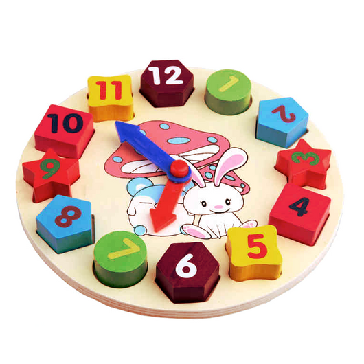 Wooden Geometry Shapes and Numbers Clock – Bright Juniors Team
