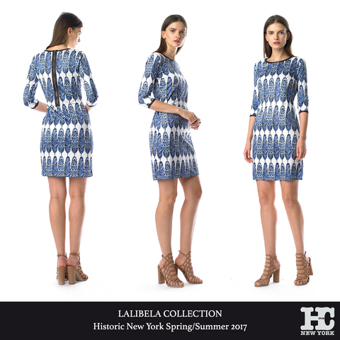 Historic New York Lalibela Collection - Plume Dress - Luxury Women Fashion 2017