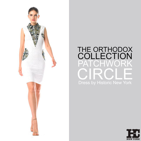 Historic New York Orthodox Collection - Patchwork Circle Dress - Luxury Women Fashion 2017