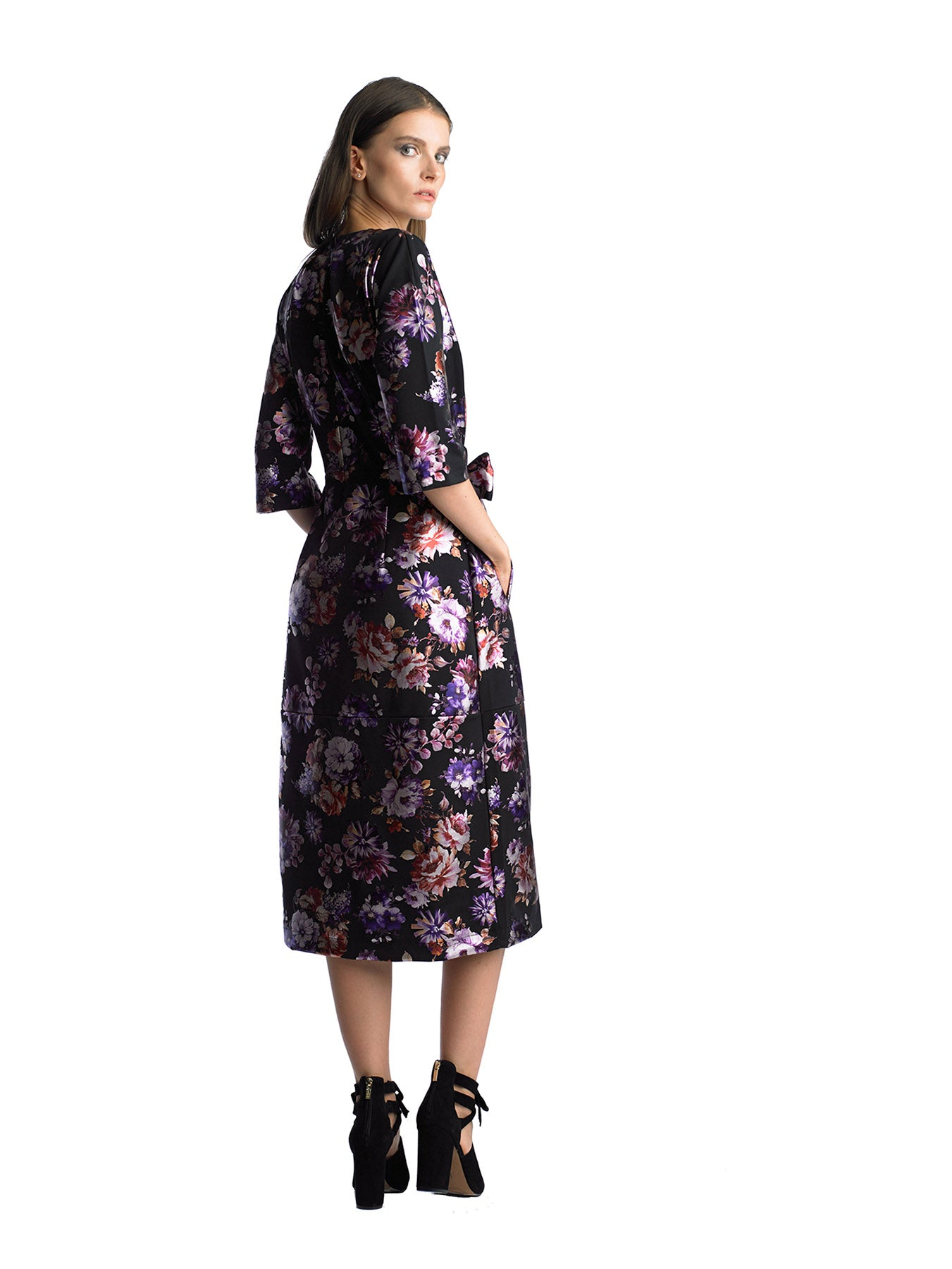 Historic New York Signature Metallic Floral Dress - Historic New York