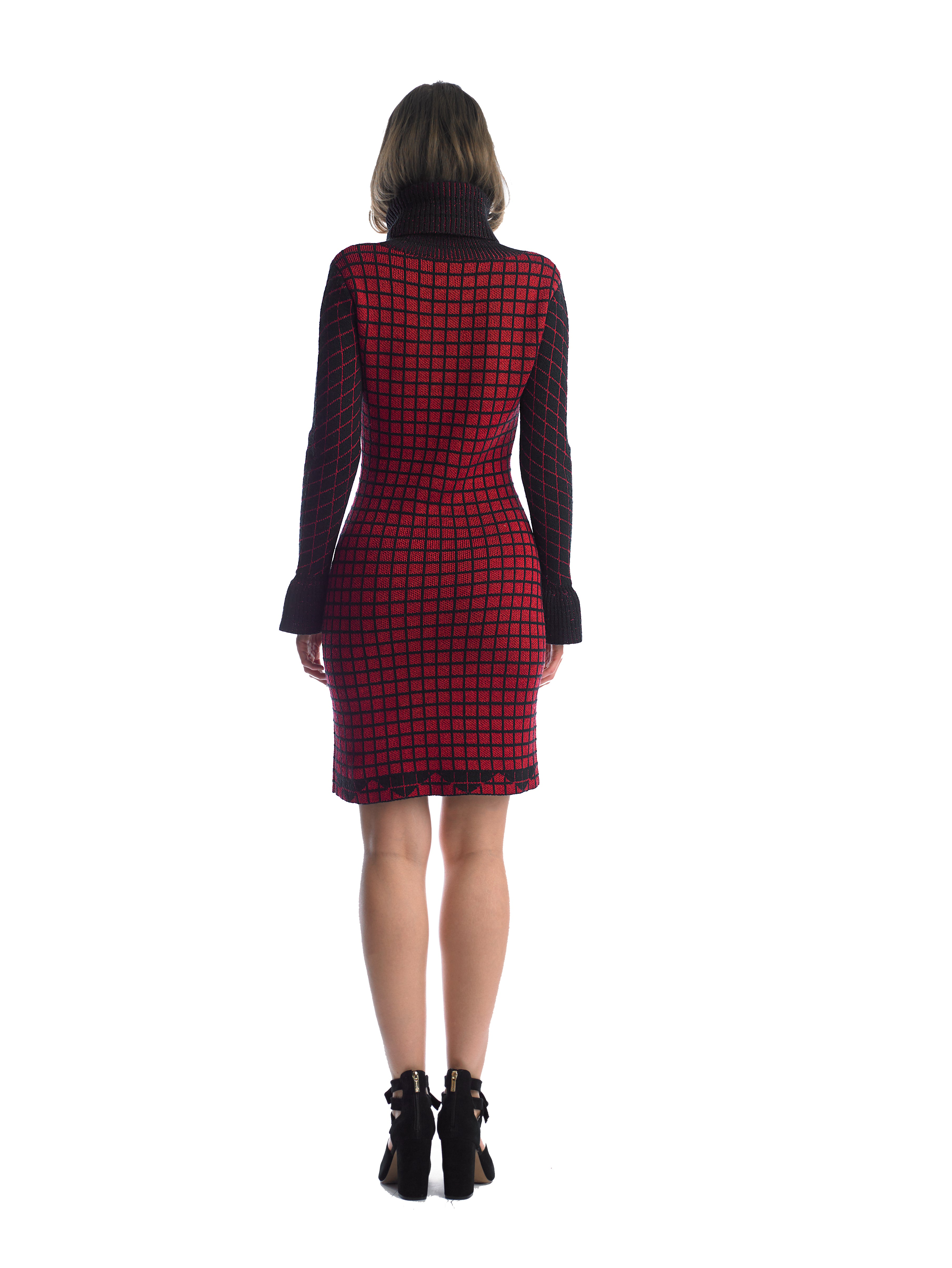 Historic New York Polonaise Knit Plaid Dress - Historic New York