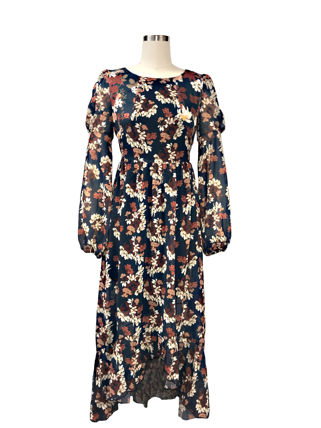Historic New York Sheer Chamomile Floral Masquerade Maxi Dress - Historic New York