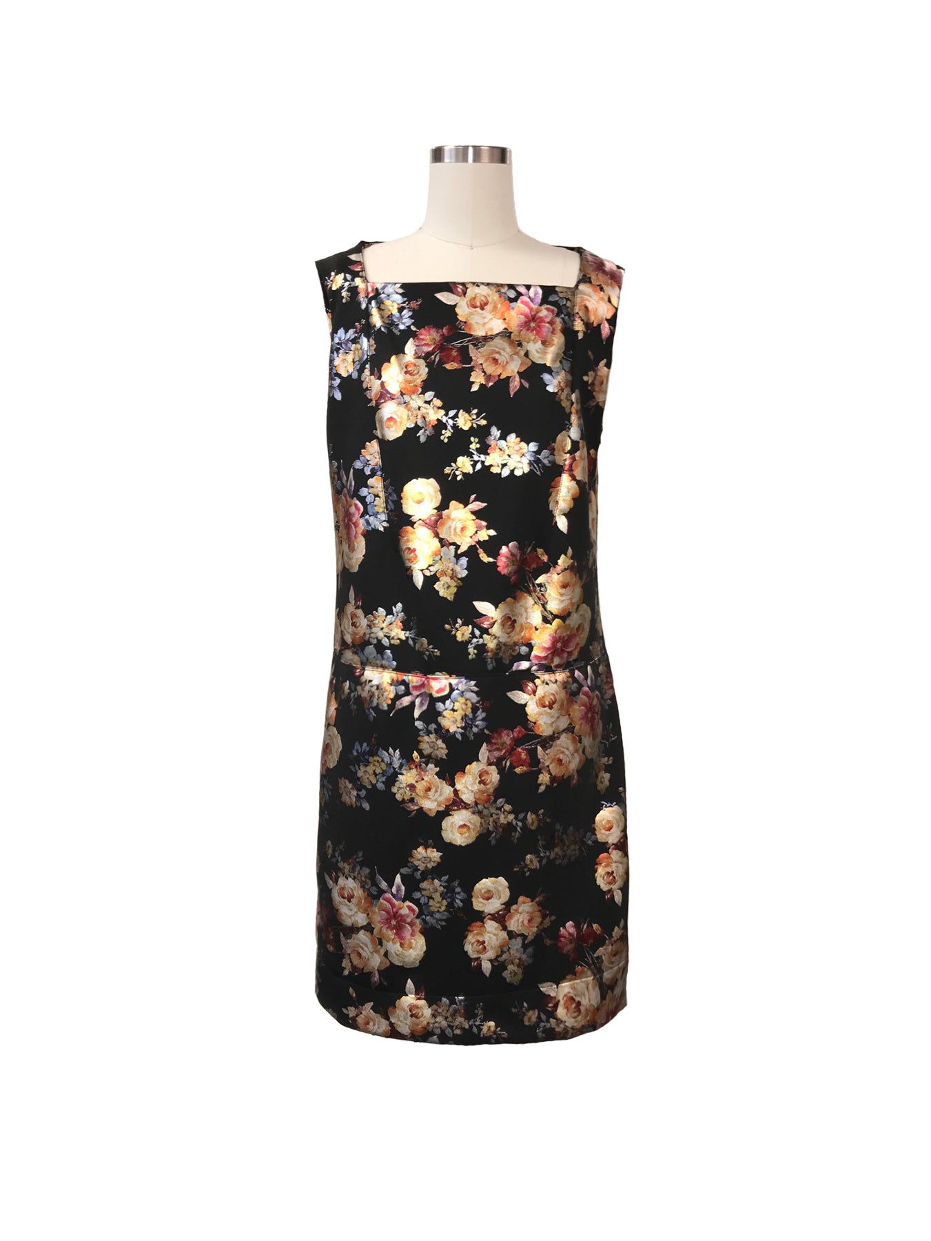 Historic New York Metallic Gold Floral Dress