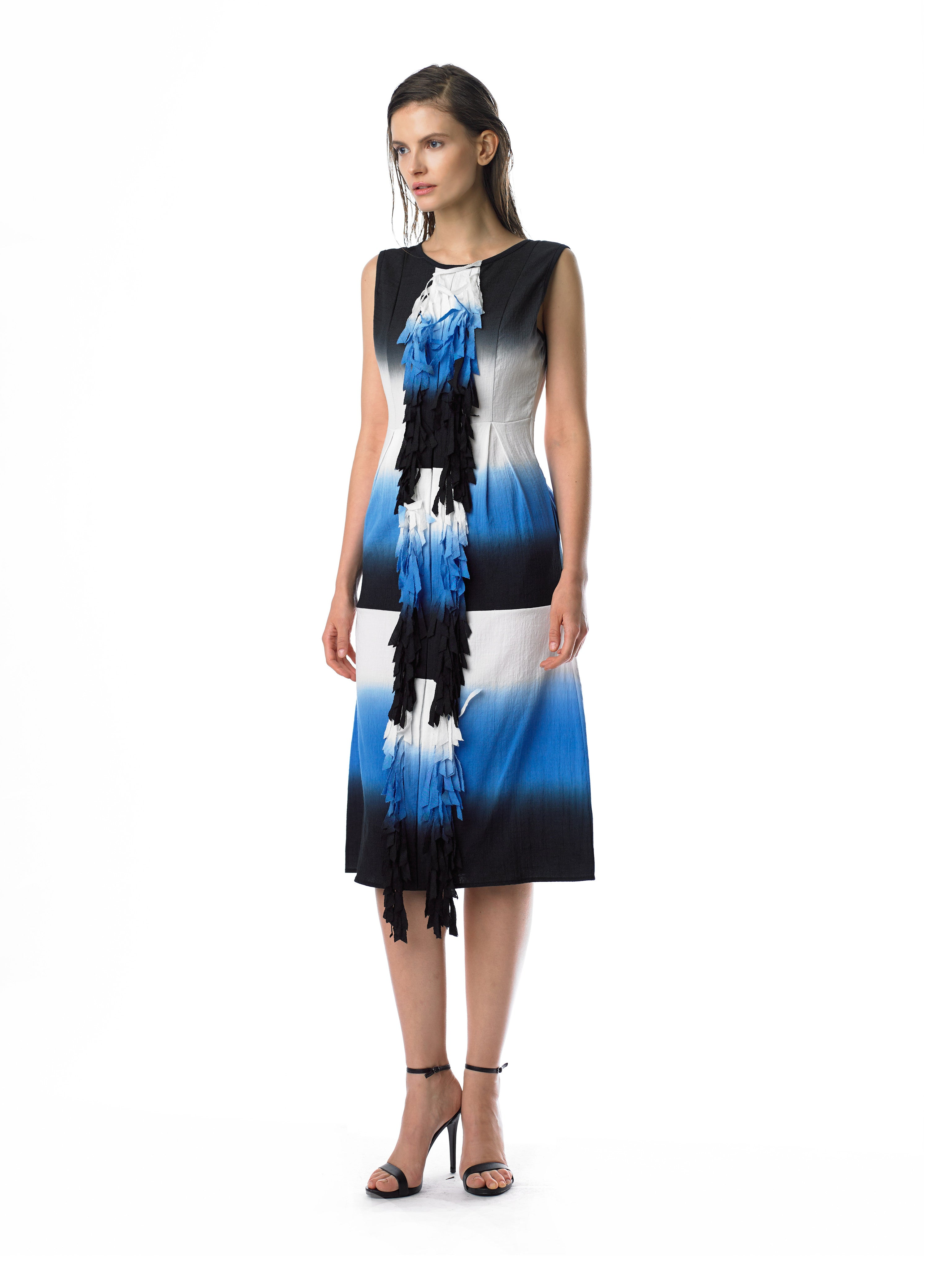 Historic New York Dip Dyed Ocean Fringe Dress - Historic New York