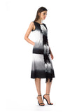 Historic New York Dip Dye Ocean Fringe Dress Best Summer Dress Black and White Dress