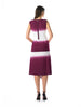 Historic New York Dip Dye Ocean Fringe Dress Best for Summer Santorini Red