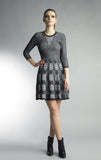 Historic New York Geometric Fit and Flare Knitted Dress