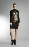 Historic New York Galerie D'art Carnation La Rose dress little black dress Historic New York