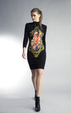 Historic New York Galerie D'art Peinture Autumn Dress little black dress