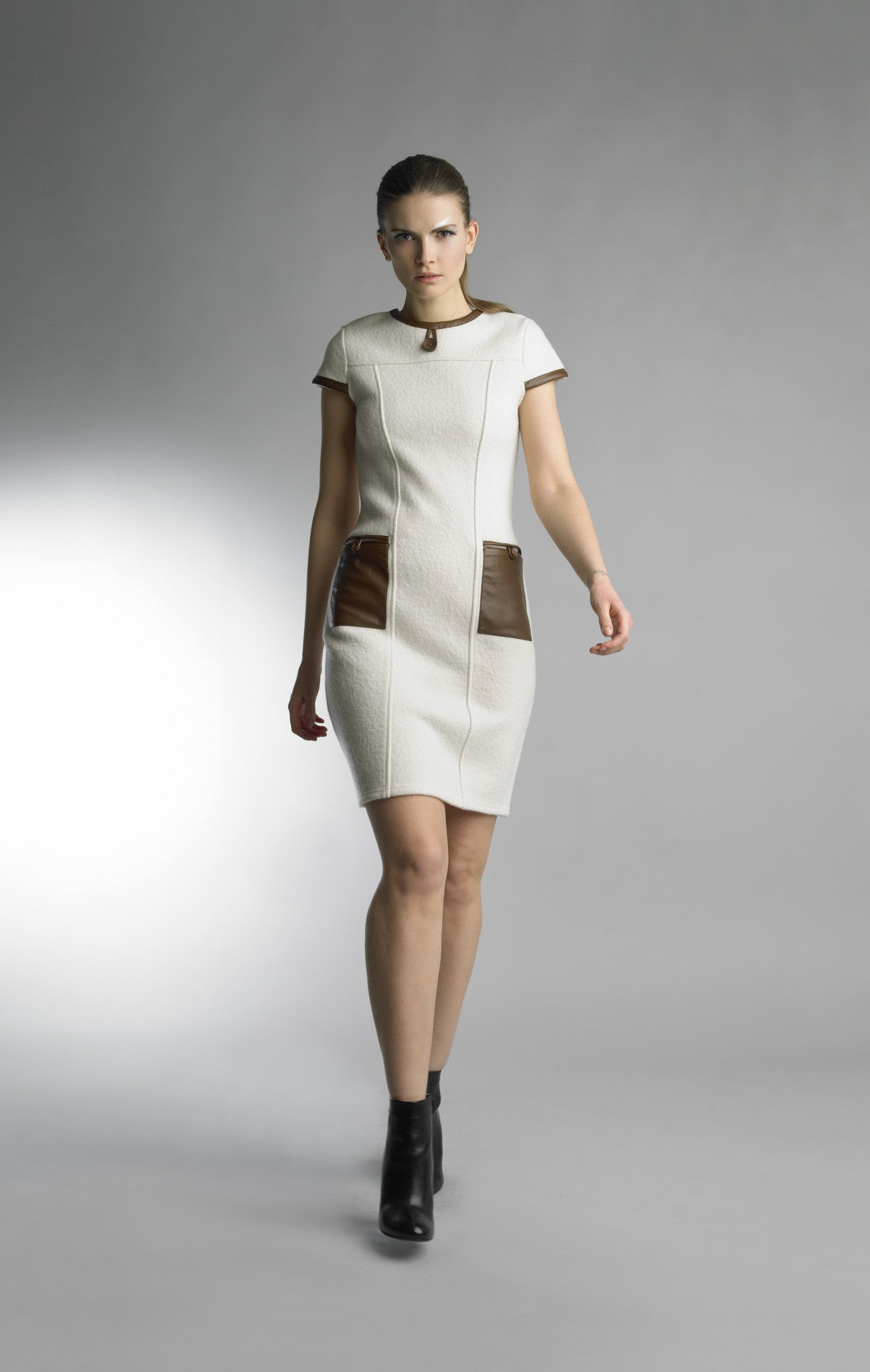 Historic New York La Laine Nuage Wool Cloud Dress - Historic New York