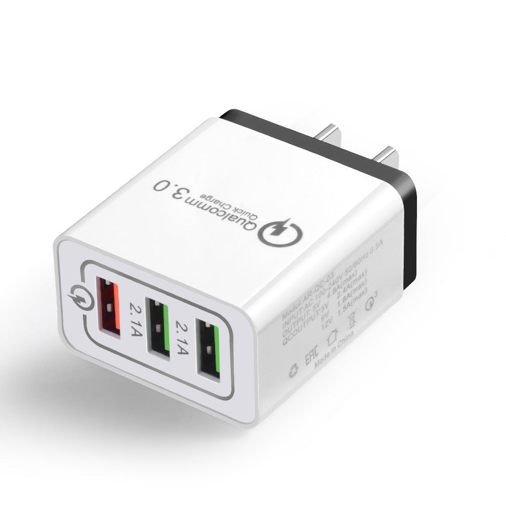3 Ports Power USB Wall Charger Fast Charging - ELARIC Collection