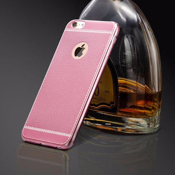 iPhone 7/8 Plus Luxury Fashion style Retro PU Leather Case  Phone Cover - ELARIC Collection