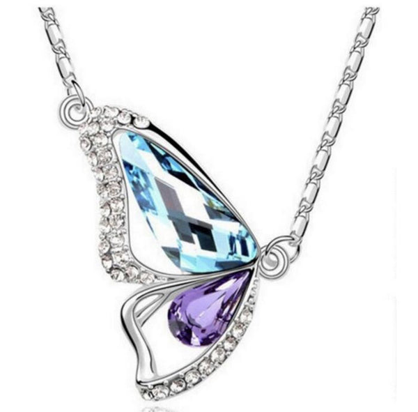 Colorful Crystal Butterfly Necklace - ELARIC Collection