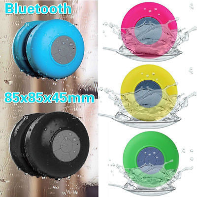 Waterproof Wireless Bluetooth Handsfree Mic Suction Speaker Shower Car - ELARIC Collection
