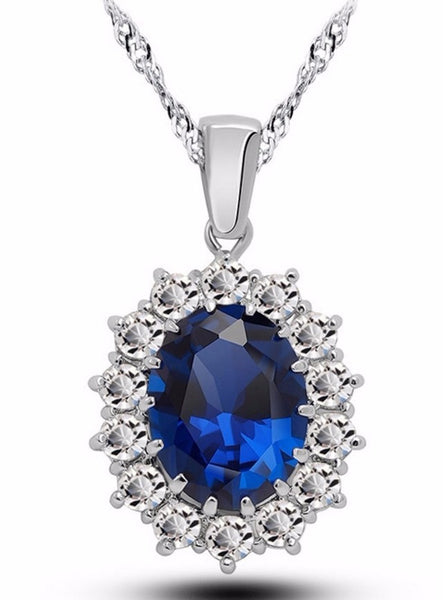 British Kate Princess Diana Wedding Engagement Wedding Blue Sapphire - ELARIC Collection