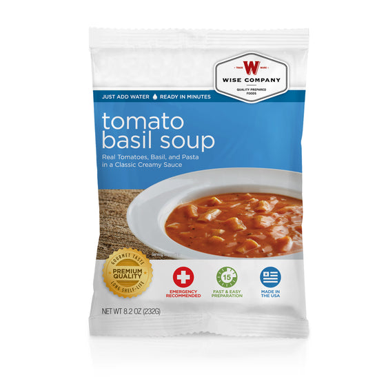 Pouches of Tomato Basil Soup