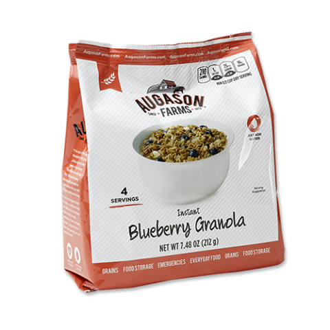 Instant Blueberry Granola with Milk