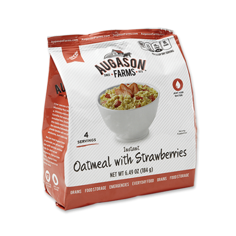 Instant Oatmeal with Strawberries